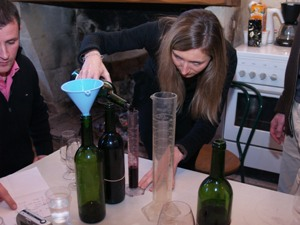 Blending our own Bordeaux Wine
