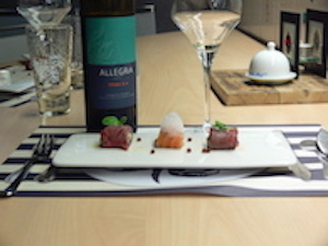Food and wine pairing by our partner vineyard Domaine Allegria
