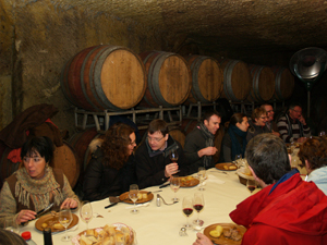Meal in the cellar
