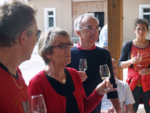Wine Tasting session of the estate's Chablis wines