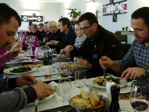 Lunch and wine tasting at the winery in Bordeaux