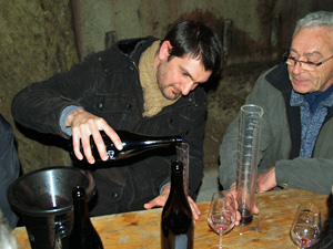Wine blending gift in France. Blend wines in the cellar at Chinon