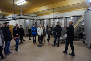 Cellar tour Domaien Chapelle Burgundy