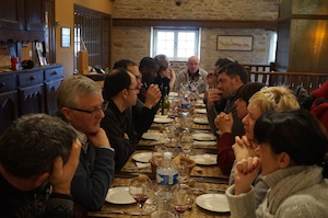 Winemakers meal Burgundy Domaine Chapelle