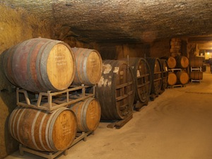wine ageing in cellar Loire Valley