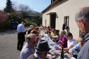 Traditional winemakers' meal