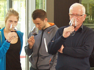 wine tasting at the winery in Bordeaux