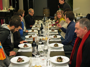 south west France delicacies during the winemakers meal