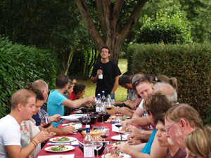 The winemakers' lunch and wine tasting during the Experience Days