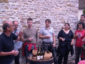 Wine tasting Burgundy wines from Domaine Chapelle