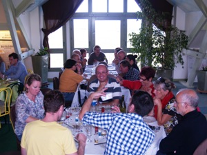 Savouring local Chablis delicacies during the harvesters lunch