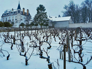 Domaine Chapelle under the snow