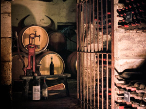 The family cellar at Château Coutet