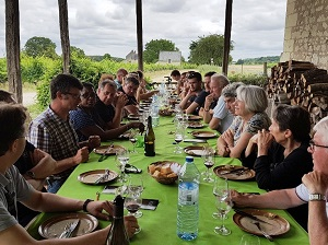 Winemakers' lunch in a French castle in the Loire Valley