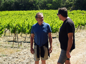 Meet teh winemaker in a French biodynamic winery in the Rhone Valley