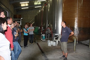 Fermentation process during the harvest in France