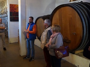 Visiting the cellar at Domaine Stentz-Buecher in Alsace, France