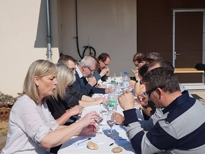 Aromas workshop in organic wines from Alsace, France