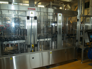 The wine bottling machine