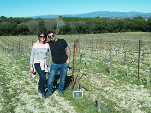 Visiting the rented vines