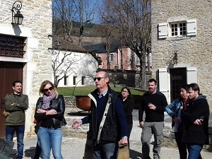 Wine and course tasting in a French winery, Santenay, Burgundy
