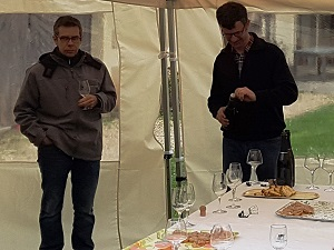 Wine tasting during a discovery day at the winery, Chinon, France