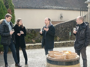 Organic wine tasting in Santenay, Burgundy, France