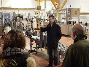 Marc explains the vinification process in the chai