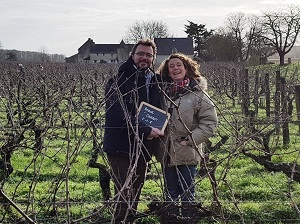 Wine gift adopted organic vines in France