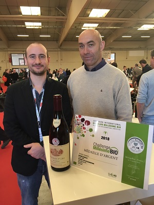Domaine Chapelle Gold Medal Millesime Bio organic wine fair 2018