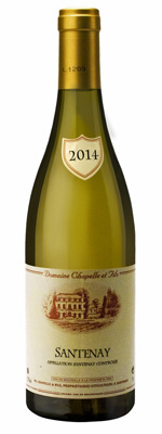 White organic wine gift. Santenay Village AOC white wine, the organic wine chosen by Gourmet Odyssey