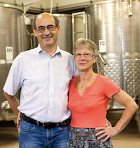 Organic white wine Experience Gift. Jean-François and Yvette Chapelle, the winemakers at Domaine Chapelle