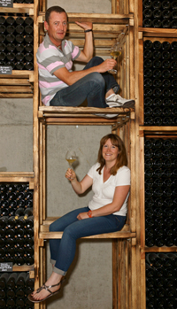 Vineyard Experience and Tour. Meet the winemakers, Stéphane and Céline at Domaine Stentz-Buecher, Wettolsheim, Alsace, France