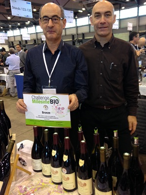 Jean-François Chapelle and Yannick Jacrot from Domaine Chapelle, bronze medal winners at Challenge Milléime Bio