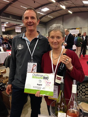 Eric and Marie-Pierre Plumet from Domaine la Cabotte, silver medal winners at Challenge Millésime Bio