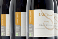 Personalised wine gift for a retirement present.  French organic wine.
